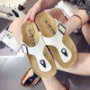Set Refers To The Flat Sand Beach Slippers Angle - WHITE