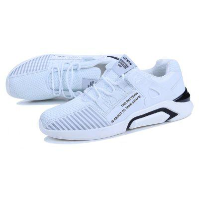 New Mens Flying Knit Casual Sports Running ShoesMen's Sneakers<br>New Mens Flying Knit Casual Sports Running Shoes<br><br>Available Size: 38-44<br>Closure Type: Lace-Up<br>Feature: Breathable<br>Gender: For Men<br>Outsole Material: Rubber<br>Package Contents: 1 x Shoes (pair)<br>Package Size(L x W x H): 32.00 x 22.00 x 13.00 cm / 12.6 x 8.66 x 5.12 inches<br>Package weight: 0.6500 kg<br>Pattern Type: Striped<br>Season: Spring/Fall<br>Shoe Width: Medium(B/M)<br>Upper Material: Leather