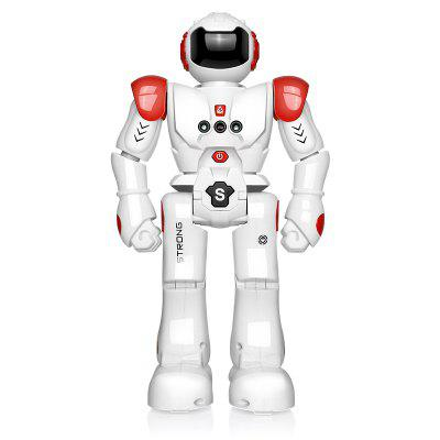 USB Charge RC Robot Dancing Gesture Action Figure Control Toys Present Birthday Gift for Kids Children- 1PC RED