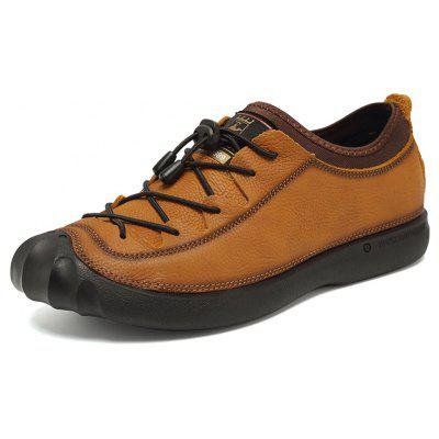 ZEACAVA Men's Outdoor Leather Casual Shoes