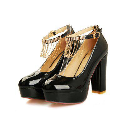 Women Shoes Tassel Chunky Heel Crystal PumpsWomens Pumps<br>Women Shoes Tassel Chunky Heel Crystal Pumps<br><br>Available Size: 33-43<br>Embellishment: Tassel<br>Heel Height: 11<br>Heel Height Range: Super High(Above4)<br>Heel Type: Chunky Heel<br>Insole Material: PU<br>Lining Material: PU<br>Occasion: Wedding<br>Outsole Material: Rubber<br>Package Contents: 1xShoes(pair)<br>Platform Height: 3<br>Pumps Type: Basic<br>Season: Summer, Spring/Fall<br>Shoe Width: Medium(B/M)<br>Toe Shape: Round Toe<br>Toe Style: Closed Toe<br>Upper Material: PU<br>Weight: 1.2000kg