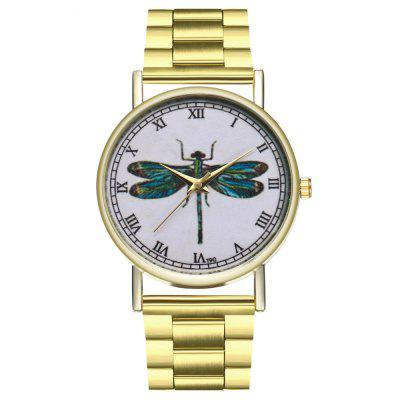 Zhou Lianfa Fashion Luxury Dragonfly Figure Steel Quartz Watch