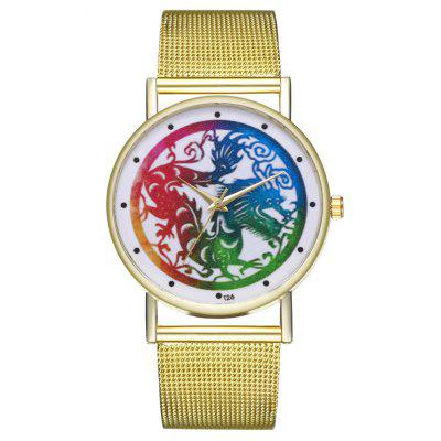 Zhou Lianfa New Trend of Luxury Color Dragon Net with Quartz Watch