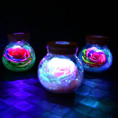 BRELONG LED Colorful Rose Vase Remote Control Glowing Glass Bottles DecorationNovelty lighting<br>BRELONG LED Colorful Rose Vase Remote Control Glowing Glass Bottles Decoration<br><br>Battery Quantity: 3<br>Brand: BRELONG<br>Color Temperature or Wavelength: 615-630nm  380-450nm  440-475nm  580-596nm  360-380nm  600-620nm  380-420nm<br>Connector Type: Other<br>Features: Color-changing<br>Light Source Color: Remote control 7-Color<br>Light Type: Night Light<br>Package Contents: 1 x Glowing Rose Bottles Decoration, 1 x Remote Control<br>Package size (L x W x H): 13.00 x 13.00 x 13.00 cm / 5.12 x 5.12 x 5.12 inches<br>Package weight: 0.2800 kg<br>Power Source: Battery<br>Product size (L x W x H): 11.00 x 10.00 x 10.00 cm / 4.33 x 3.94 x 3.94 inches<br>Product weight: 0.2080 kg<br>Quantity: 1<br>Style: Artistic Style<br>Wattage: Other