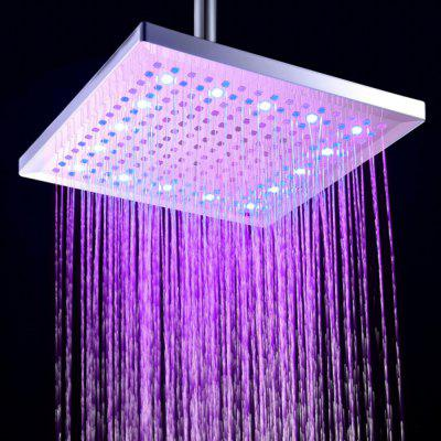 BRELONG LED Shower Head Felt Warm Three-olor Square 12-inch 300mm