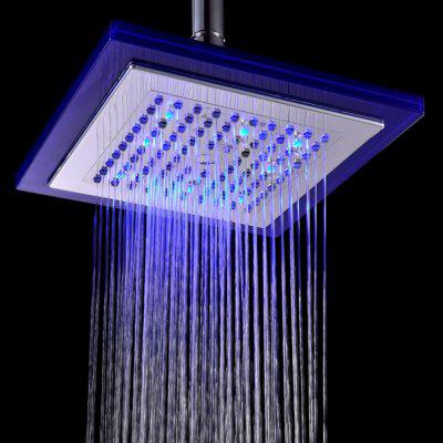BRELONG LED Spray Shower Temperature Controlled Three-color 8-inch Square