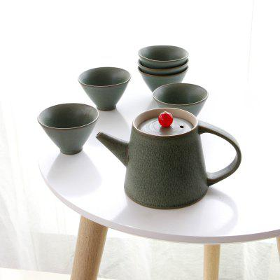 New 7pcs Ceramic  Tea Set Gift Pot 250ML Six Cup Porcelain Coffee Tools Drinkware