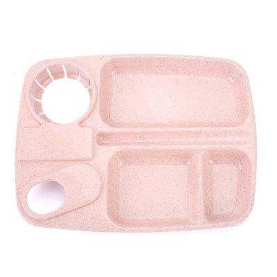 Buy 1Pc Wheat Straw with Cup Tray PINK for $4.18 in GearBest store