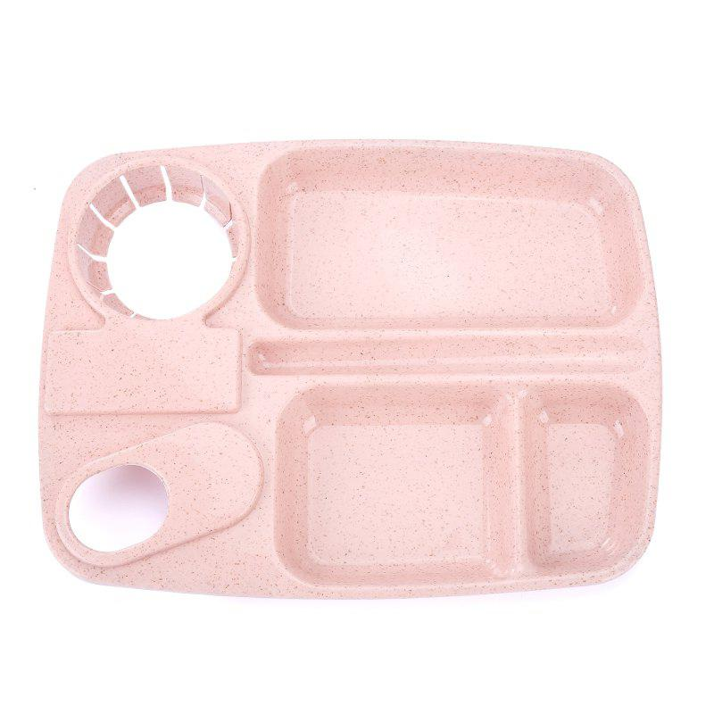 1Pc Wheat Straw with Cup Tray PINK