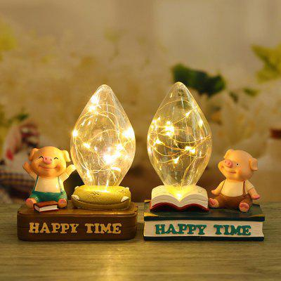 Home Bed Cartoon Pig Night Light Resin OrnamentsDecorative Lights<br>Home Bed Cartoon Pig Night Light Resin Ornaments<br><br>Package Contents: 1 x  Decoration light<br>Package size (L x W x H): 15.00 x 5.00 x 35.00 cm / 5.91 x 1.97 x 13.78 inches<br>Package weight: 0.5200 kg<br>Product size (L x W x H): 12.00 x 5.00 x 35.00 cm / 4.72 x 1.97 x 13.78 inches<br>Product weight: 0.5000 kg