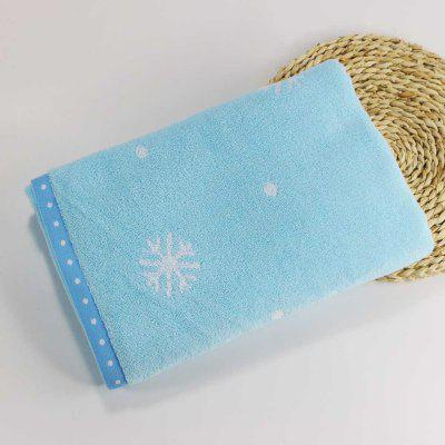 Soft Cotton Face Hair Towel for Children Adult Snowflake Snowflake Sports Camping