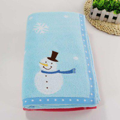 Soft Cotton Bath Towel for Children Adult Snowflake Snowflake Sports Camping