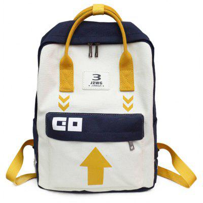 The New Canvas Backpack College Wind Backpack