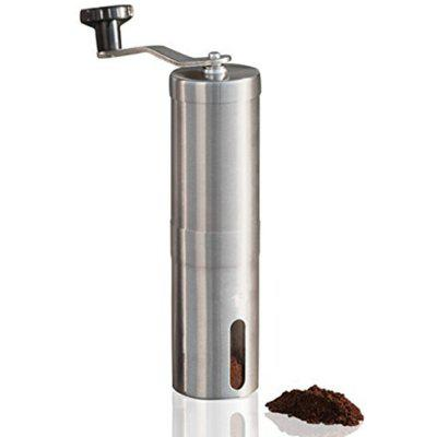 Manual Coffee Grinder Conical Burr Mill Brushed Stainless Steel