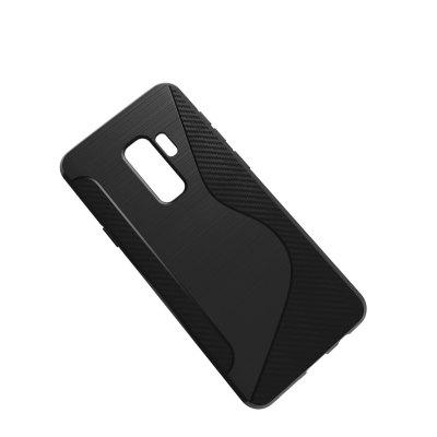 Brushed Carbon Fiber S-TPU Phone Case for Samsung Galaxy S9 Plus