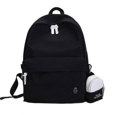 2pcs Canvas Small Fresh Travel Backpack