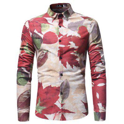 Spring and Autumn Leaf Print Mens Long Sleeve ShirtMens Shirts<br>Spring and Autumn Leaf Print Mens Long Sleeve Shirt<br><br>Collar: Turn-down Collar<br>Material: Polyester<br>Package Contents: 1X Shirt<br>Shirts Type: Casual Shirts<br>Sleeve Length: Full<br>Weight: 0.2300kg