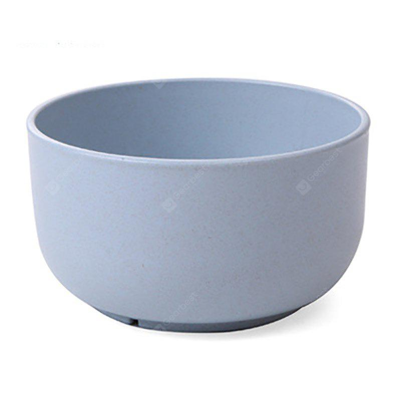 DHE Environmental Protection Wheat Straw Broken Resistant Rice Bowl BLUE