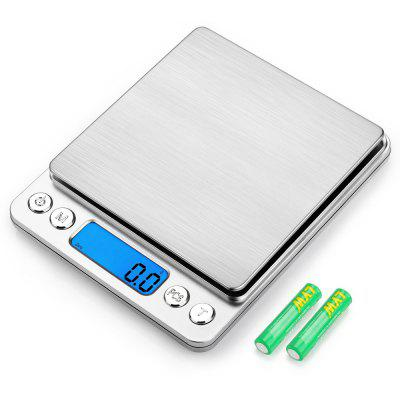Digital Kitchen Scale Stainless Steel High Precision Pocket Food Multifunction with Back Lit LCD Display