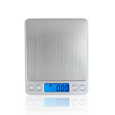 Digital Kitchen Scale Stainless Steel High Precision Pocket Food Multifunction with Back Lit LCD DisplayMeasuring Tools<br>Digital Kitchen Scale Stainless Steel High Precision Pocket Food Multifunction with Back Lit LCD Display<br><br>Available Color: Silver<br>Material: Stainless Steel, ABS<br>Package Contents: 1 x Digital Kitchen Scale, 2 x Platform Cover, 2 x AAA Batteries, 1 x User Manual<br>Package size (L x W x H): 16.00 x 13.00 x 3.30 cm / 6.3 x 5.12 x 1.3 inches<br>Package weight: 0.3000 kg<br>Product size (L x W x H): 12.70 x 10.60 x 1.90 cm / 5 x 4.17 x 0.75 inches<br>Product weight: 0.2500 kg<br>Type: Cookware