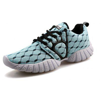 ZEACAVA Male Breathable Knitted Lace Up Athletic Shoes