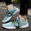 ZEACAVA Male Breathable Knitted Lace Up Athletic Shoes - LIGHT GREEN