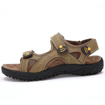 ZEACAVA Leisure Leather Beach SandalsMens Sandals<br>ZEACAVA Leisure Leather Beach Sandals<br><br>Available Size: 39-45<br>Closure Type: Hook / Loop<br>Embellishment: Appliques<br>Gender: For Men<br>Heel Hight: 2cm<br>Occasion: Casual<br>Outsole Material: Rubber<br>Package Contents: 1xShoes(Pair)<br>Pattern Type: Solid<br>Sandals Style: Slides<br>Style: Concise<br>Upper Material: Full Grain Leather<br>Weight: 1.2000kg