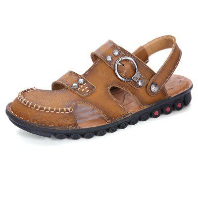 ZEACAVA Men's Fashion First Layer of Leather Sandals