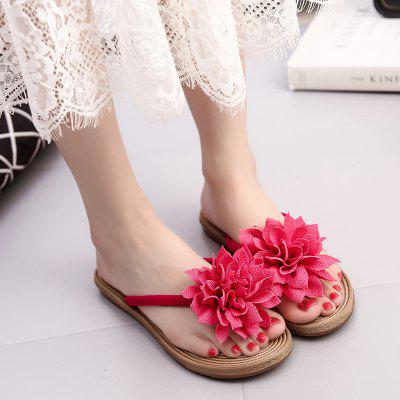 New Summer Beach Flat Feet Cool SlippersSlippers &amp; Flip-Flops<br>New Summer Beach Flat Feet Cool Slippers<br><br>Available Size: 35,36,37,38,39,40,41<br>Gender: For Women<br>Heel Type: Flat Heel<br>Package Contents: 1 x Shoes?Pair?<br>Pattern Type: Floral<br>Season: Spring/Fall, Summer<br>Slipper Type: Outdoor<br>Style: Sweet<br>Upper Material: PU<br>Weight: 0.6720kg