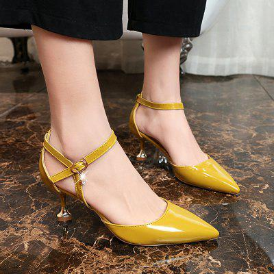 Baotou All-Match Fashion Leather Pointed Stiletto SandalsWomens Sandals<br>Baotou All-Match Fashion Leather Pointed Stiletto Sandals<br><br>Available Size: 35?36?37?38?39<br>Closure Type: Buckle Strap<br>Gender: For Women<br>Heel Type: Stiletto Heel<br>Insole Material: PU<br>Lining Material: PU<br>Occasion: Casual<br>Package Content: 1 x Shoes pair<br>Pattern Type: Solid<br>Sandals Style: Gladiator<br>Style: Leisure<br>Technology: Adhesive<br>Upper Material: Patent Leather<br>Weight: 0.9360kg