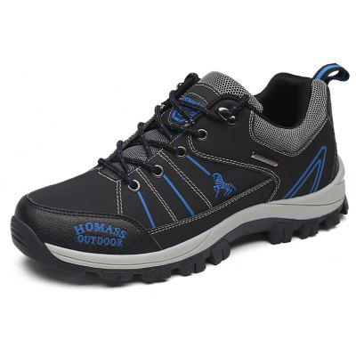 Men Casual Wear Outdoor Leather Climbing Breathable Shoes