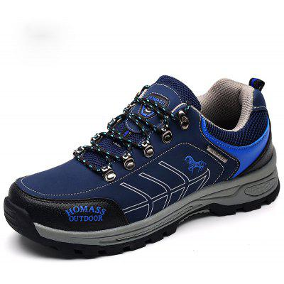 Buy HOMASS Men Casual Water Hiking Outdoor Climbing Breathable Shoes ROYAL BLUE 39 for $49.02 in GearBest store