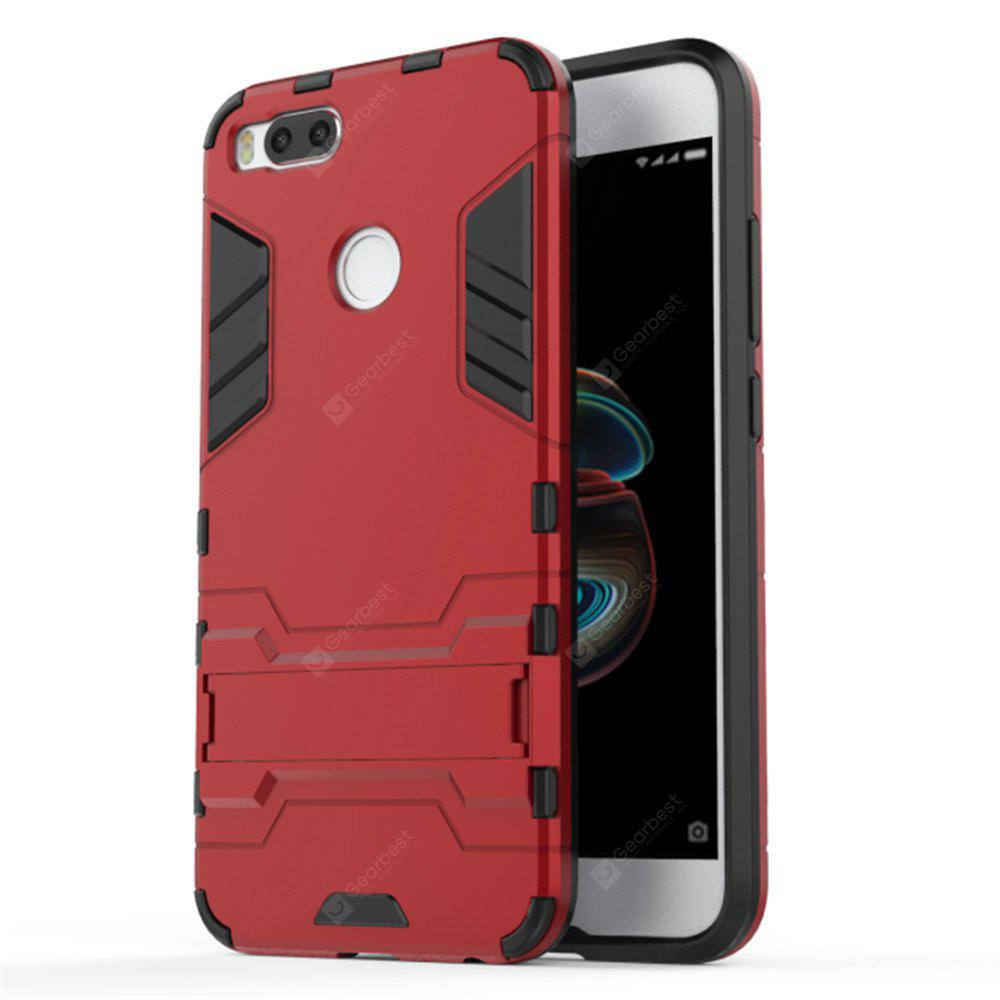 Case for Xiaomi 5X Shockproof Solid Color Hard PC with Stand Back Cover