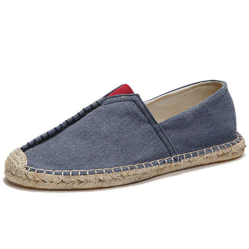 Men Casual Hand Stitching Canvas Espadrille Loafers Flats Shoes
