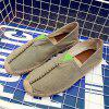 Men Casual Hand Stitching Canvas Espadrille Loafers Flats Shoes - GRAY