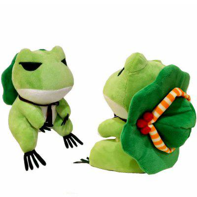 Cute Trave Action Figure Doll Frogs with Hat Stuffed Plush Toy Gift for Children Birthday