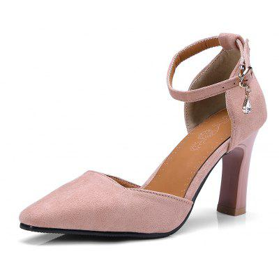 New Square All-Match Thick High-Heeled Sandals