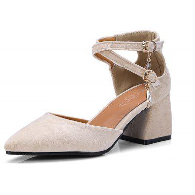 The New  Pointed Thick  All-Match Hollow Fashion Women's Sandals