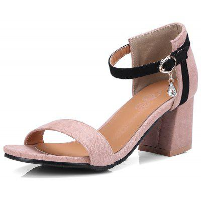 New  Round Rough All-Match Color Women's Sandals