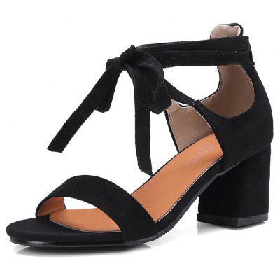 O novo 18-27 Round Rough Heels All-Match Strap Sandals