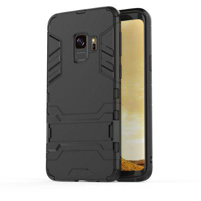 Silicone PC Armor Kickstand Case for Samsung Galaxy S9Samsung S Series<br>Silicone PC Armor Kickstand Case for Samsung Galaxy S9<br><br>Features: Anti-knock<br>For: Samsung Mobile Phone<br>Material: TPU, PC<br>Package Contents: 1 x Phone Case<br>Package size (L x W x H): 21.00 x 10.00 x 1.00 cm / 8.27 x 3.94 x 0.39 inches<br>Package weight: 0.0350 kg<br>Product weight: 0.0350 kg<br>Style: Cool, Special Design