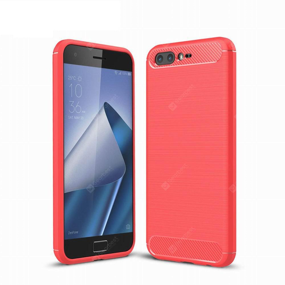 For Asus ZenFone 4 Pro ZS551KL Cover Carbon Fiber Luxury Silicone Soft Texture Back Phone Cases