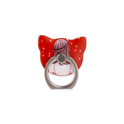Sexy Girl 360 Degree Finger Ring Mobile Phone Smartphone Stand Holder Red Skirt Smart Phone