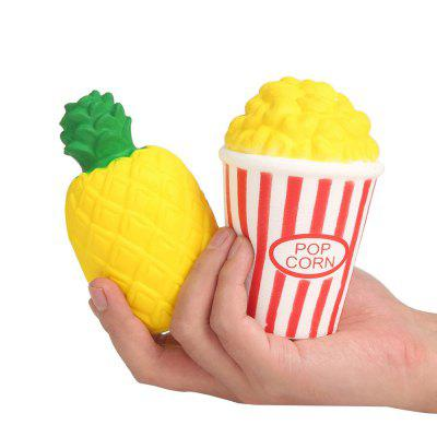 Slow Rising Jumbo Squishy Kawaii Pineapple and Popcorn Soft Toy 2PCSSquishy toys<br>Slow Rising Jumbo Squishy Kawaii Pineapple and Popcorn Soft Toy 2PCS<br><br>Age Range: &gt; 3 years old<br>Materials: PU<br>Package Content: 2  x Toy<br>Package Dimension: 8.20 x 6.20 x 2.20 cm / 3.23 x 2.44 x 0.87 inches<br>Product Dimension: 8.00 x 6.00 x 2.00 cm / 3.15 x 2.36 x 0.79 inches<br>Products Type: Toy<br>Use: Home Decoration
