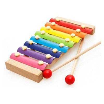 Wood Eight Knocked Jean Baby Hand Xylophone Children Educational Toys