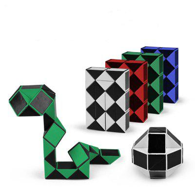 Magic Snake Shape Toy Game 3D Cube Puzzle Twist Puzzle Toy Gift 4pcs
