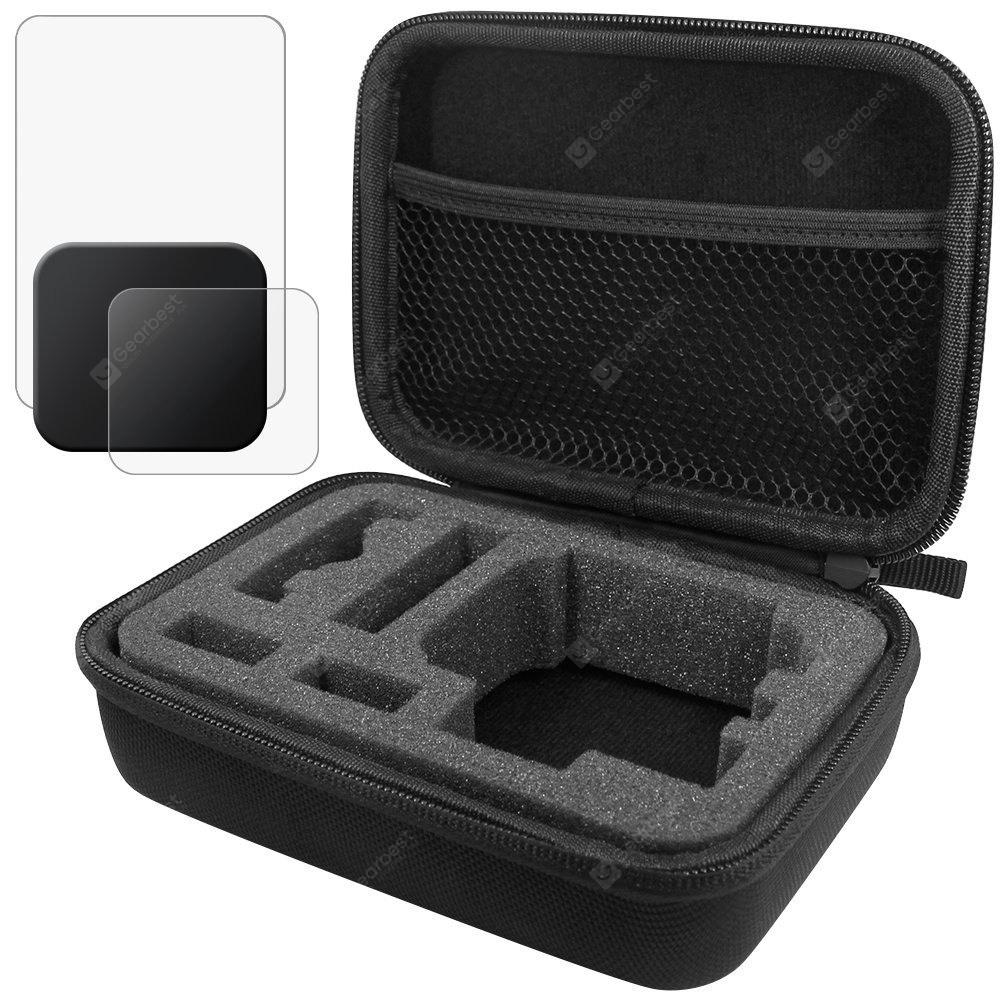 EVA Travel Storage Protective Case with Tempered Glass Screen Protector and Lens Cap  for GoPro Hero 6/Hero 5