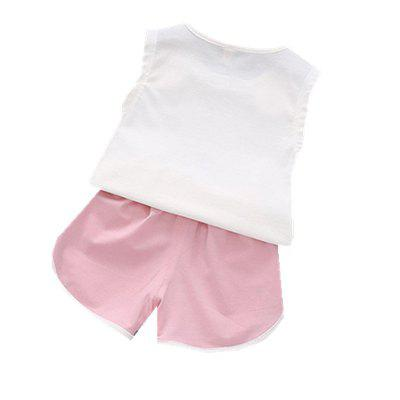 2pcs Cartoon Cute Baby Girls Shorts Setbaby clothing sets<br>2pcs Cartoon Cute Baby Girls Shorts Set<br><br>Closure Type: Pullover<br>Collar: Round Neck<br>Color: Pink<br>Gender: Girl<br>Head Drawstring: Without<br>Material: Cotton<br>Neck Drawstring: Without<br>Package Contents: 1 x Suit<br>Season: Summer<br>Sleeve Length: Sleeveless<br>Thickness: Thin<br>Weight: 0.1500kg