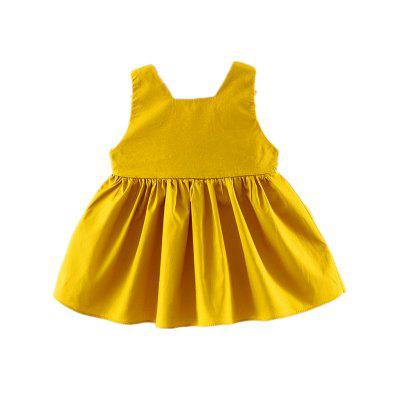 Baby Girl's Dress Flowers Sleeveless Baby Clothes