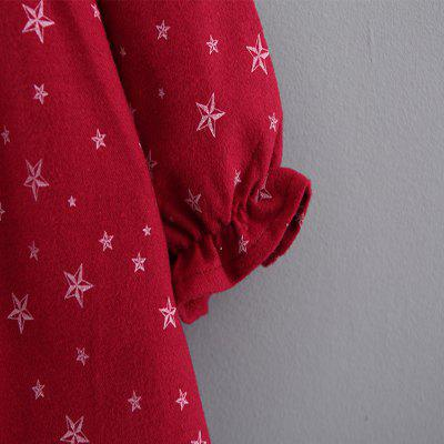 Baby Girl's Dress Long Sleeve Star Pattern Baby Clothes